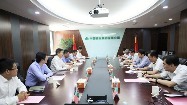 宋权礼与黑龙江省副省长程志明一行举行会谈